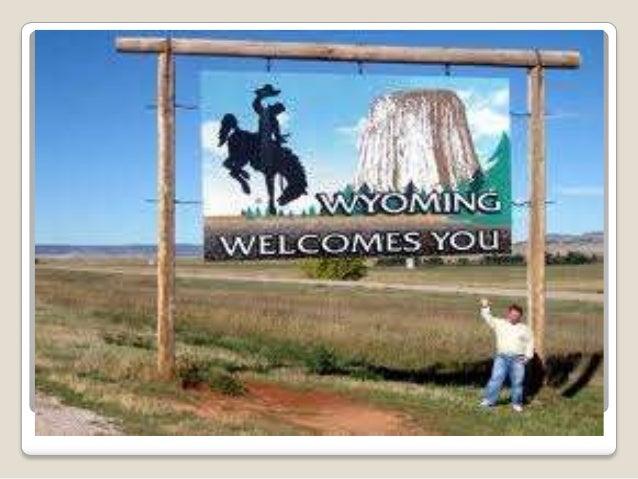 Wyoming Map  Localização