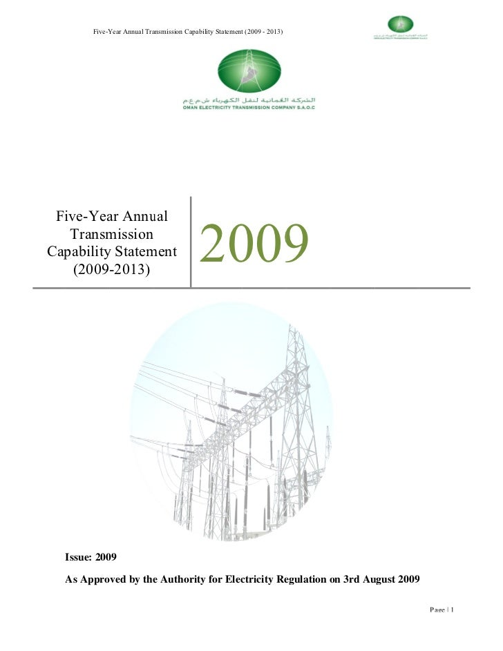 Oetc 2009 Capability Statement. Final Draft