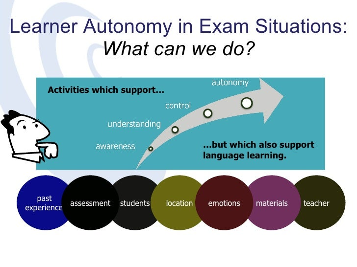 learner autonomy and teacher autonomy Abstract—this paper describes a proposal for a study on autonomy in language learning to be carried out with students and english teachers at a.
