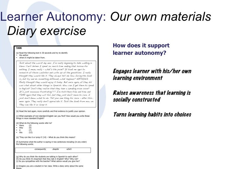 learning english autonomy Autonomy in english see all translations  self-regulated learning, learner autonomy, and metacognition from cambridge english corpus in some respects, young people have gained greater autonomy and are expected to shoulder adult responsibilities at ever younger ages.
