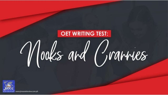 OET Writing Test: Nooks and Crannies