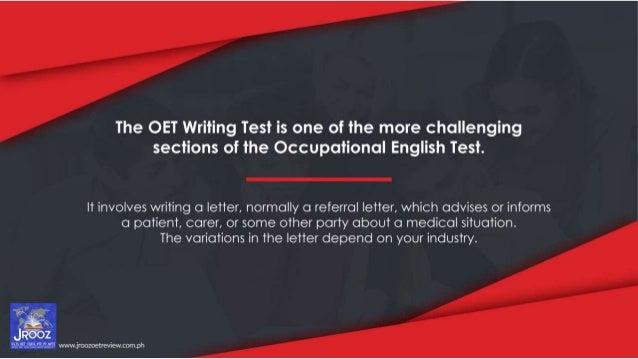 OET Writing Test: Nooks and Crannies Slide 2