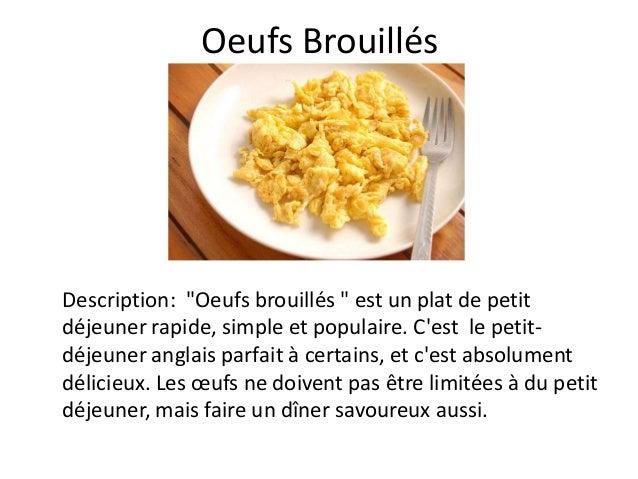 """Oeufs BrouillésDescription: """"Oeufs brouillés """" est un plat de petitdéjeuner rapide, simple et populaire. Cest le petit-déj..."""