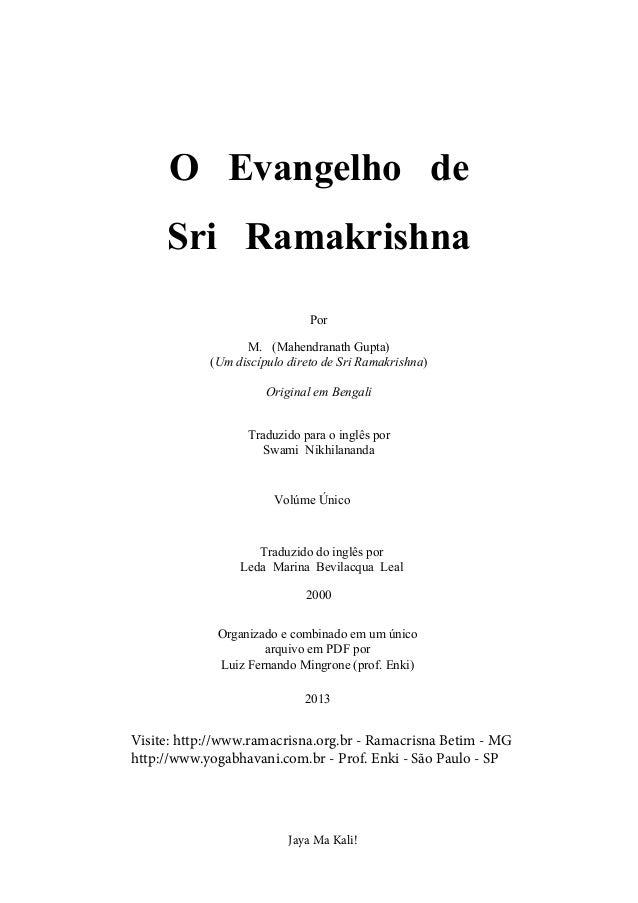 the gospel of sri ramakrishna abridged pdf