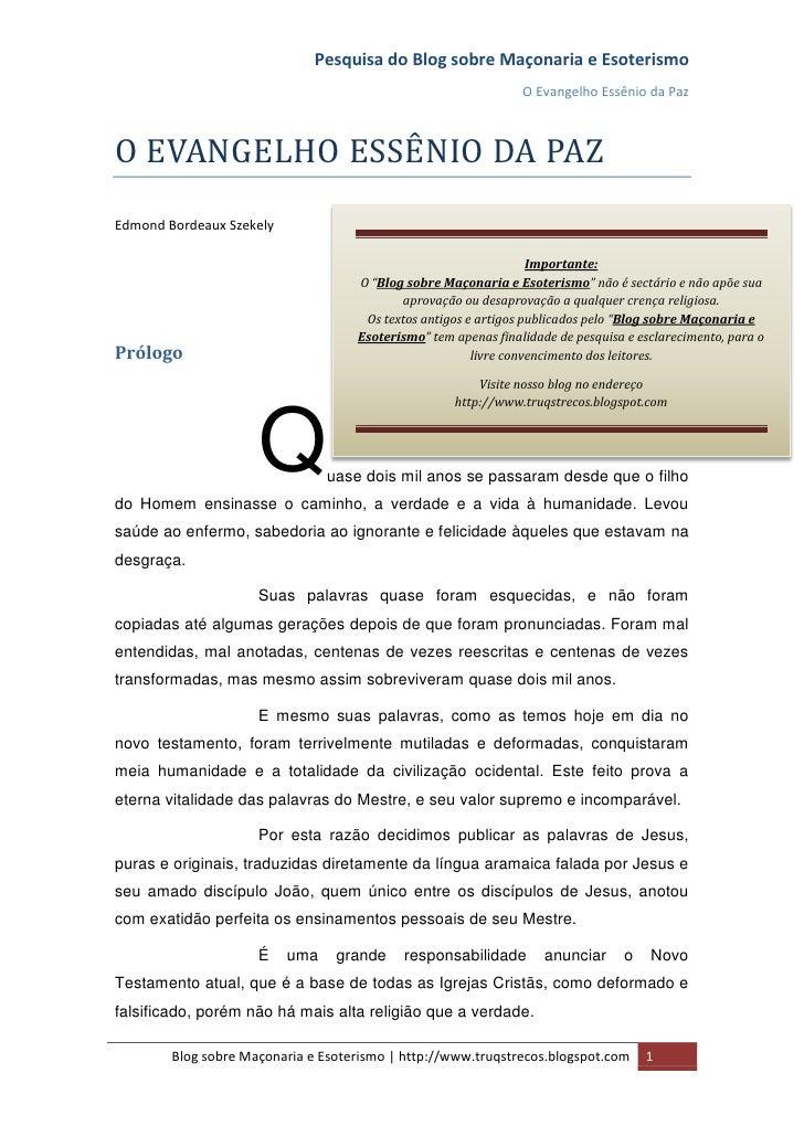 Pesquisa do Blog sobre Maçonaria e Esoterismo                                                                O Evangelho E...