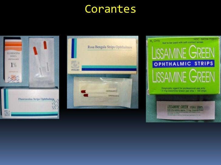 Rosa Bengala Derivado da Fluoresceína (grupo da xantina) Usada em:   Ulcerações dendríticas (herpes vírus)   Diagnósti...