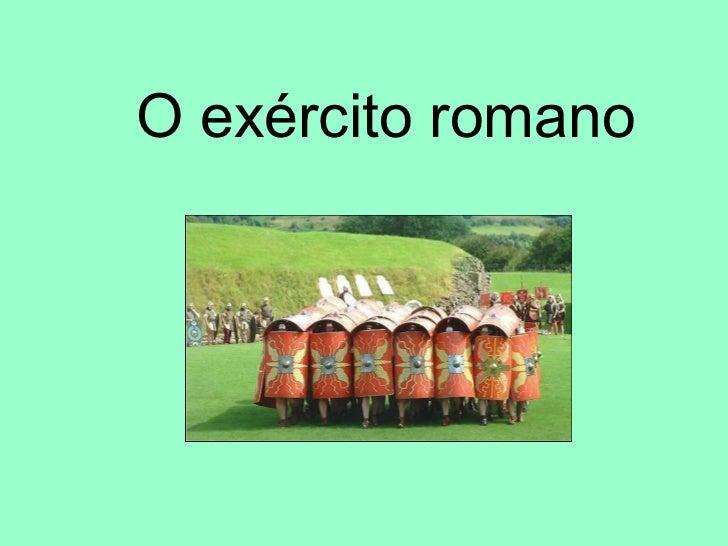 O exército romano