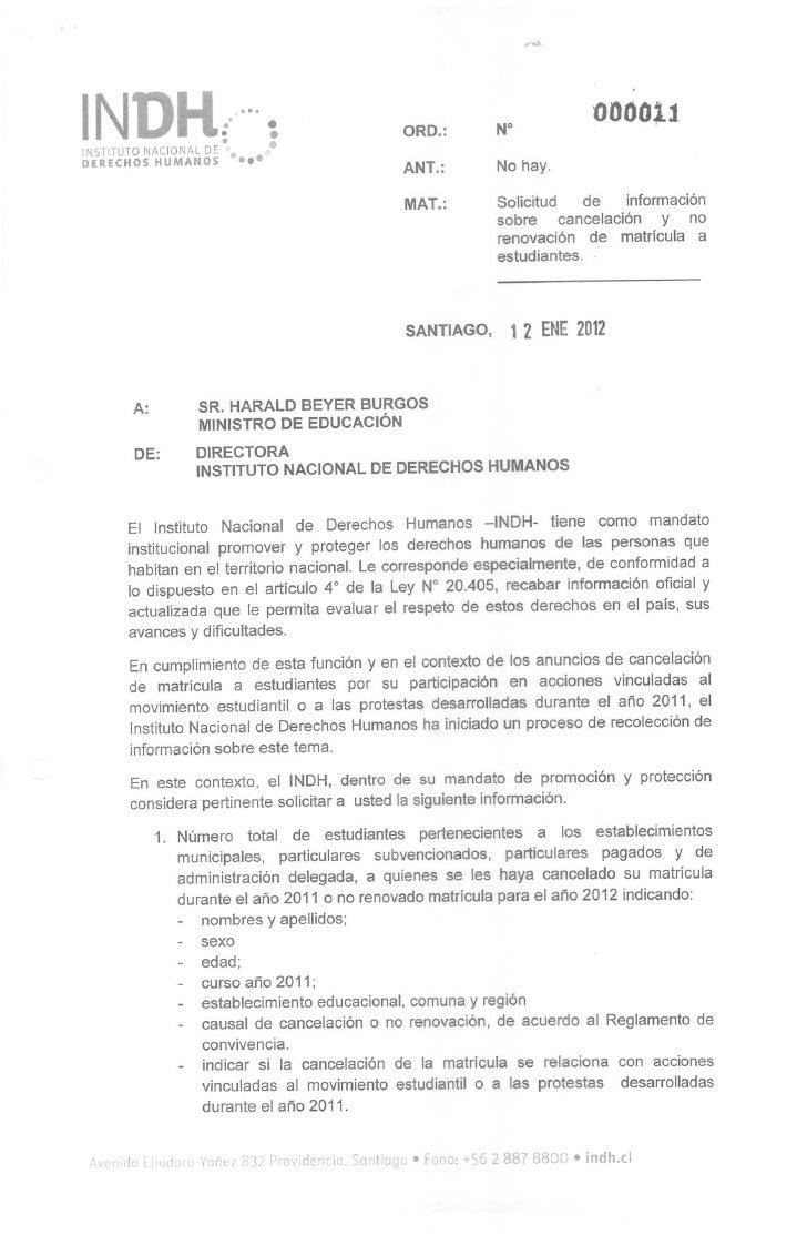 Of. 11 solicita info expulsiones