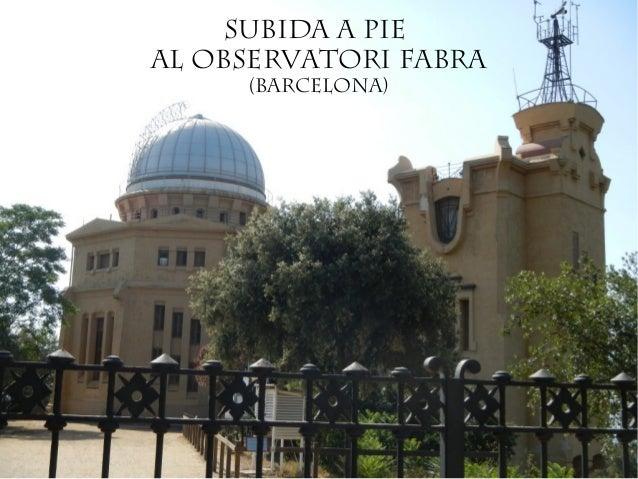 Subida a pieal Observatori Fabra     (Barcelona)