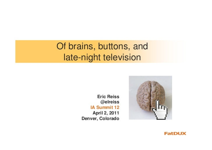 Of brains and buttons Slide 2