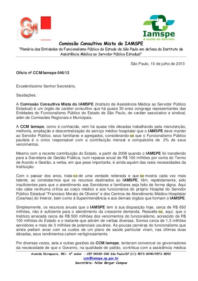 """Comissão Consultiva Mista do IAMSPE """"Plenária das Entidades do Funcionalismo Público do Estado de São Paulo em defesa do I..."""