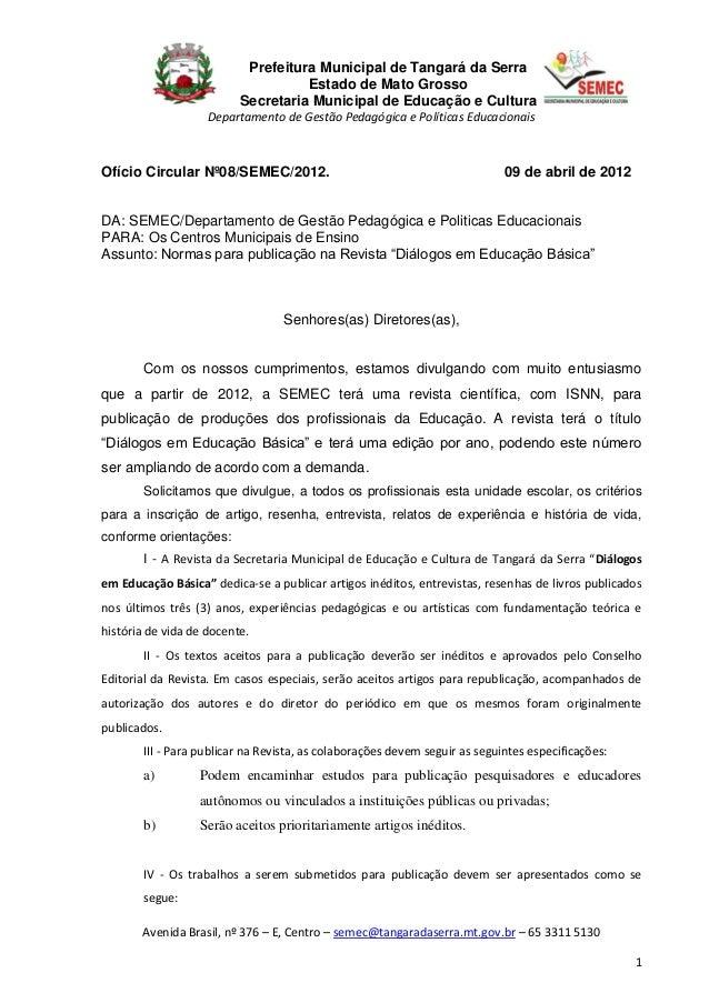 Prefeitura Municipal de Tangará da Serra                                    Estado de Mato Grosso                         ...