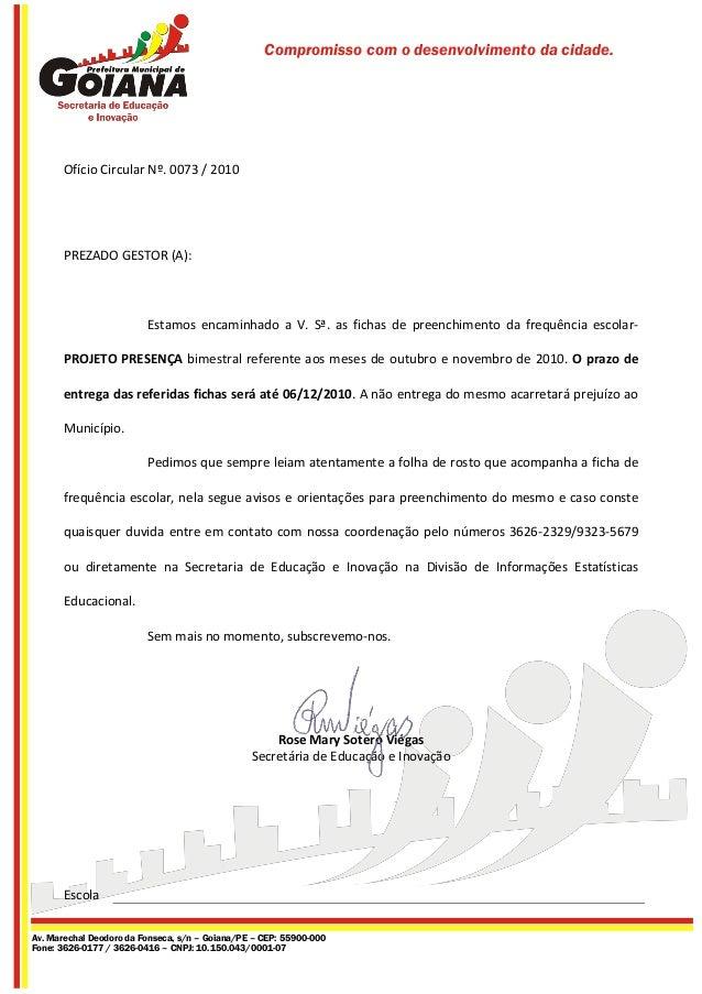 Compromisso com o desenvolvimento da cidade. Av. Marechal Deodoro da Fonseca, s/n – Goiana/PE – CEP: 55900-000 Fone: 3626-...