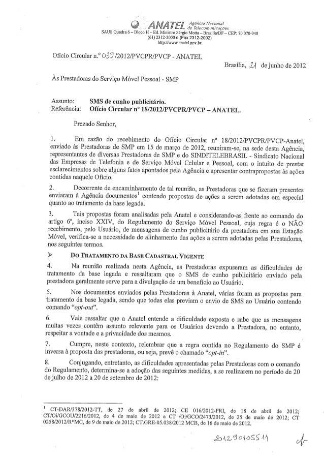 ' A and. : Nacíonal  .  .:   à degTe-Ieco/ nunícações SAUS Quadra 6 - Bloco H - Ed.  Ministro Sérgio Motta- Brasilia/ DF -...