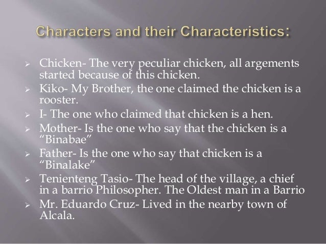 My brother's peculiar chicken analysis essay