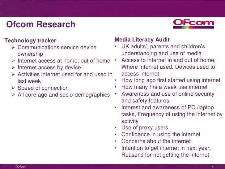 Ofcom ResearchTechnology tracker                             Media Literacy Audit   Communications service device        ...
