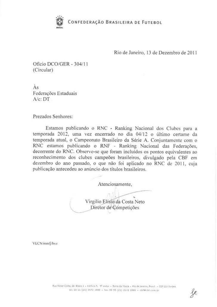 Ranking brasileiro de Clubes - CBF - 2012