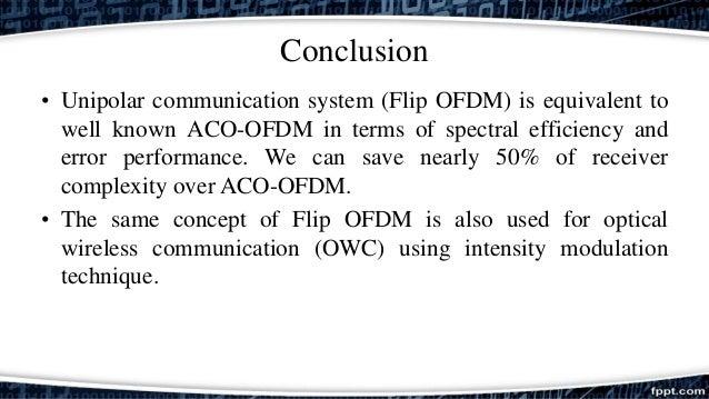 Communication theory ofdm