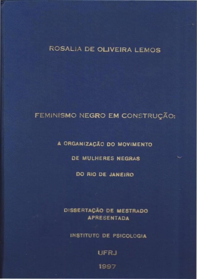 "L""NIVERSIDADE FEDERAL DO RIO DE  JANEIRO"