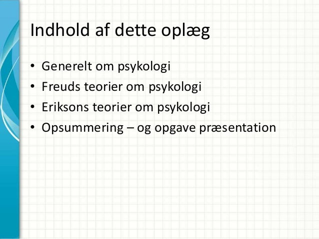 psykologi teorier oversigt