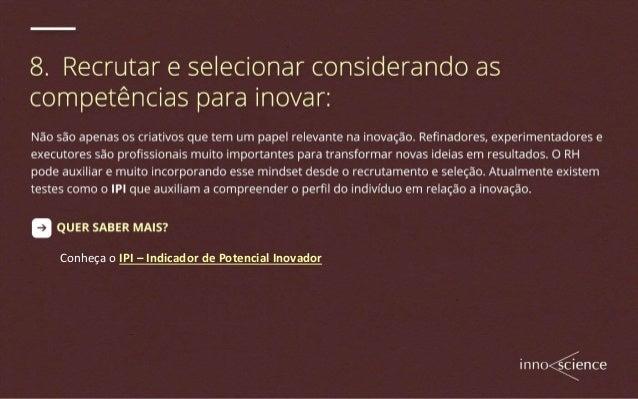As 8 Principais Responsabilidades do RH para com a Inovação