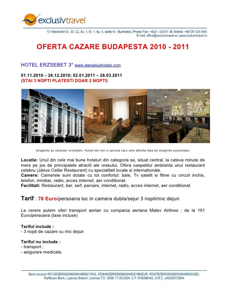 Oferta cazare Budapesta - 2010-2011