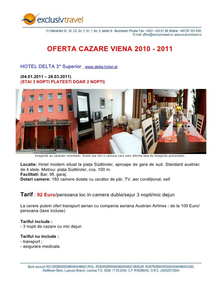 Oferta cazare Viena - 2010-2011