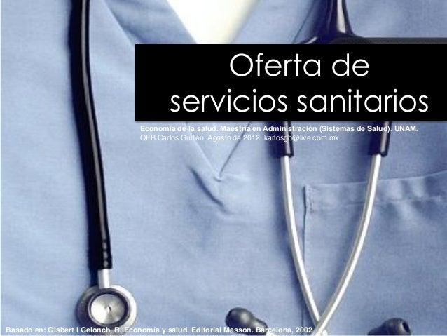 oferta de servicios sanitarios