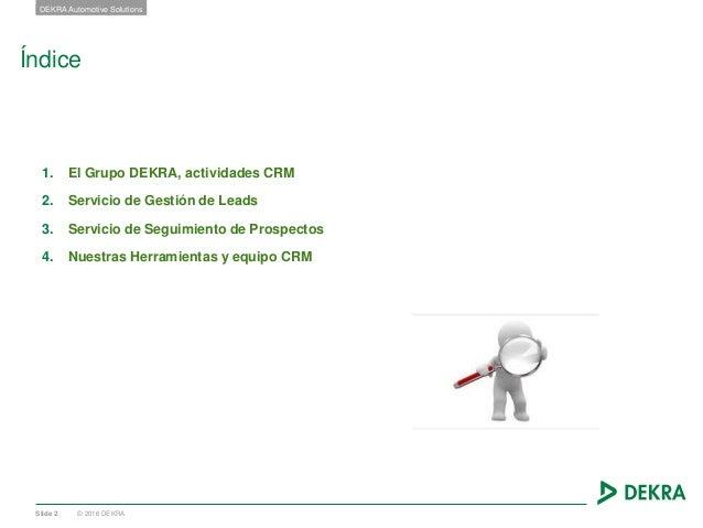 Oferta de servicios CRM DEKRA Automotive Solutions 2017 Slide 2