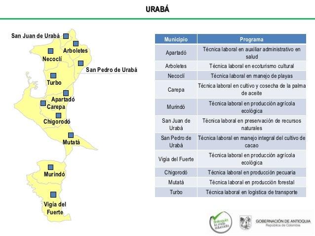 URABÁSan Juan de Urabá                                                      Municipio                           Programa  ...