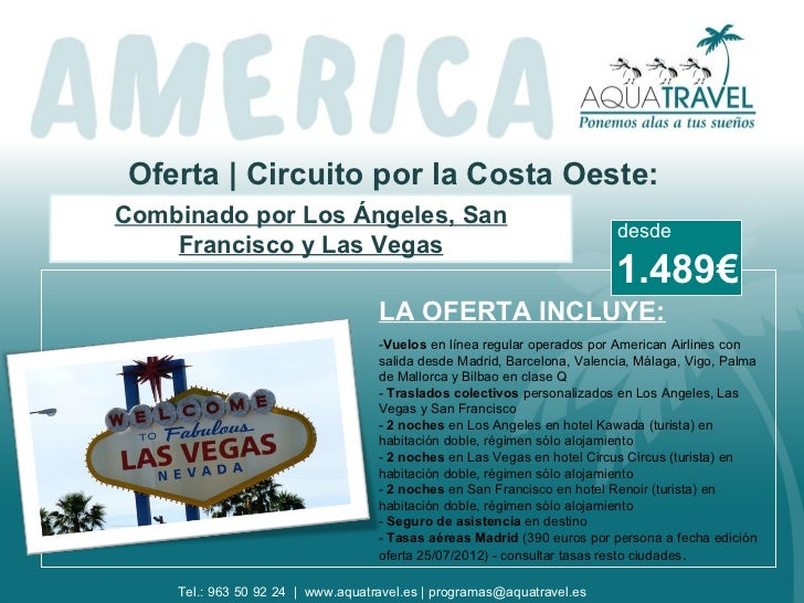 Oferta | Circuito por la Costa Oeste:Combinado por Los Ángeles, San                                                       ...