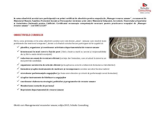 obiectivele managementului resurselor umane