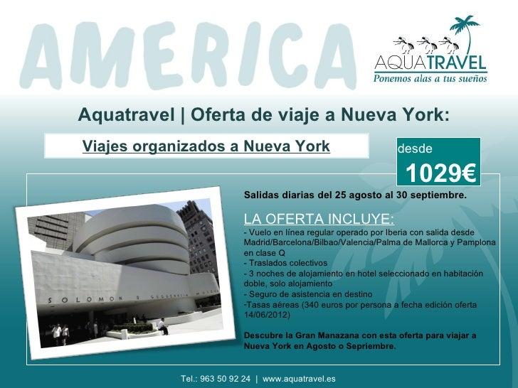 Aquatravel | Oferta de viaje a Nueva York:Viajes organizados a Nueva York                                 desde           ...