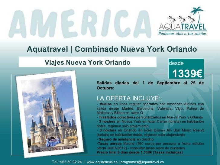Aquatravel | Combinado Nueva York Orlando    Viajes Nueva York Orlando                                             desde  ...