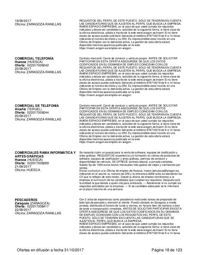 Ofertas activas de empleo for Inaem oficina electronica