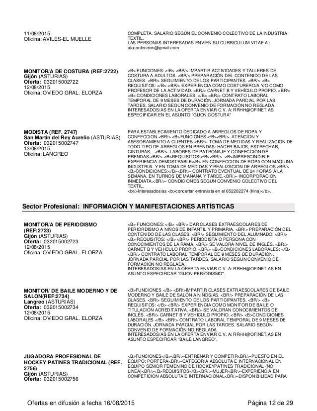 Ofertas de empleo en el principado de asturias for Convenio oficinas y despachos asturias