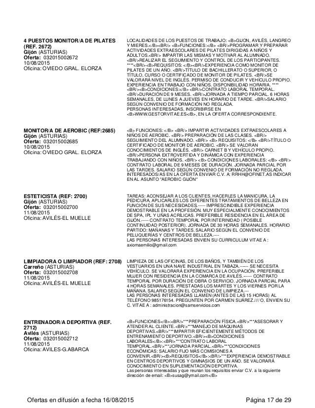 Sights sounds blog - Oficina de empleo asturias ...