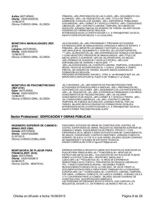 Ofertas de empleo en el principado de asturias - Ofertas asturias ...