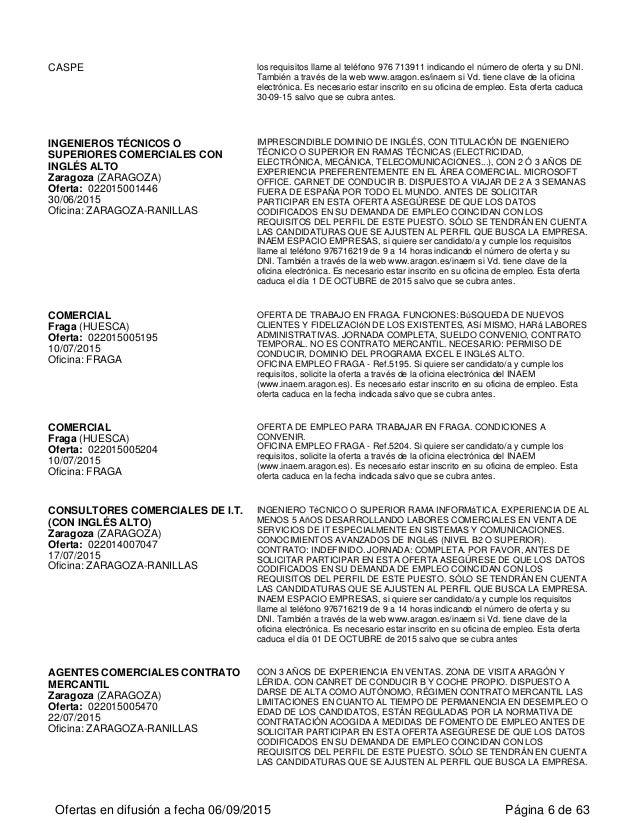Ofertas de empleo en arag n for Oficina de empleo ranillas