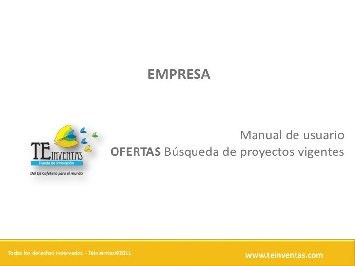 EMPRESA                                                          Manual de usuario                                      OF...