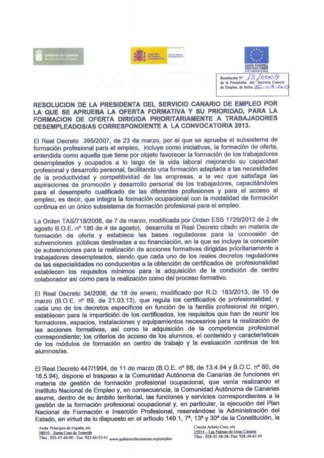 ANEXO - OFERTA FORMATIVA 2013      Código                                                                                 ...