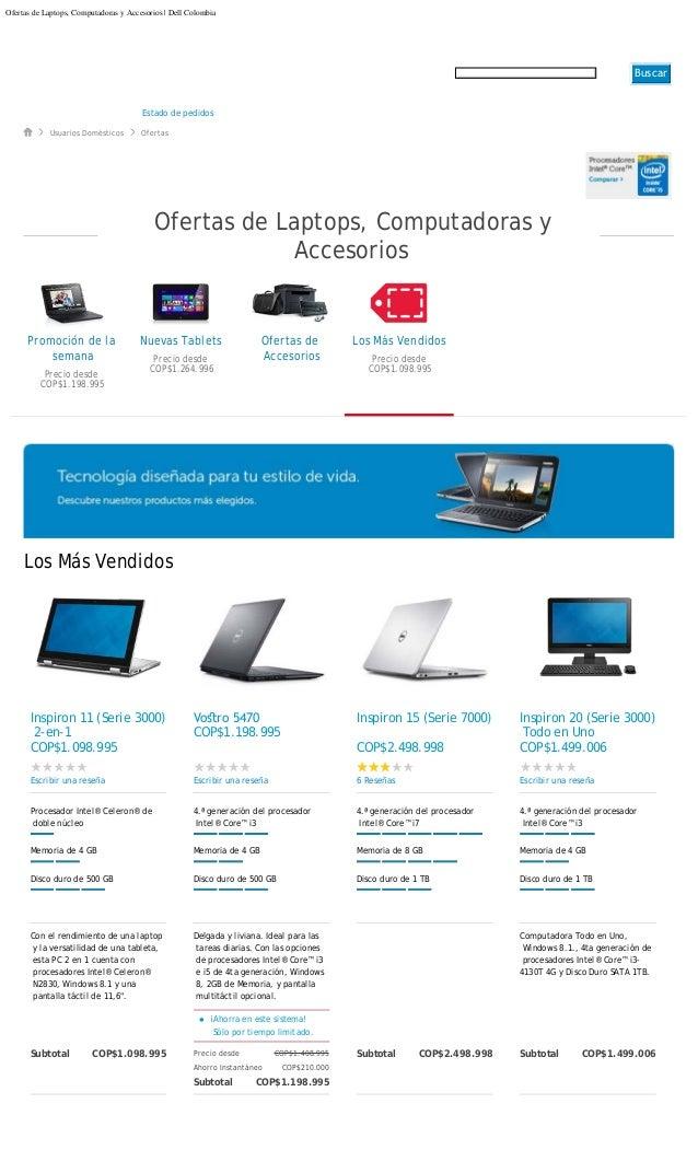 Ofertas de laptops computadoras y accesorios hogar 2308014 for Accesorios hogar