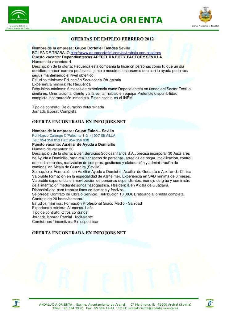 Consejería de Empleo                                              ANDALUCÍA ORIENTA                                       ...