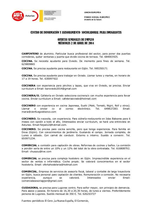 Ofertas de trabajo miercoles 2 abril - Trabajo de ayudante de cocina en madrid ...