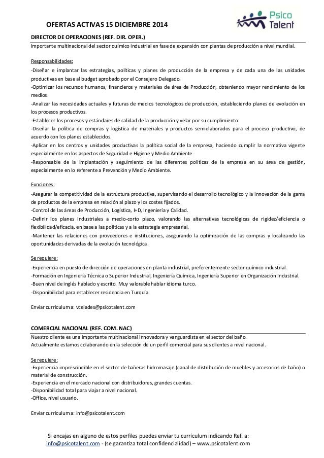 Ofertas activas de empleo en Psico Talent - 15 diciembre Slide 2