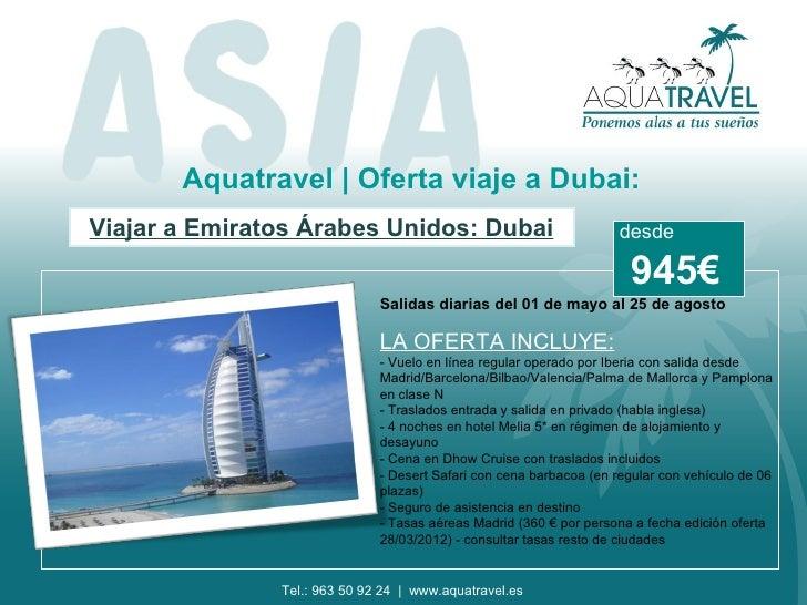 Aquatravel | Oferta viaje a Dubai:Viajar a Emiratos Árabes Unidos: Dubai                               desde              ...