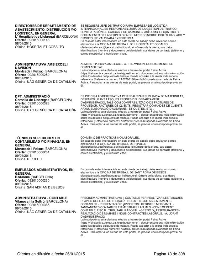 Ofertes 24 gener for Oficina correos hospitalet
