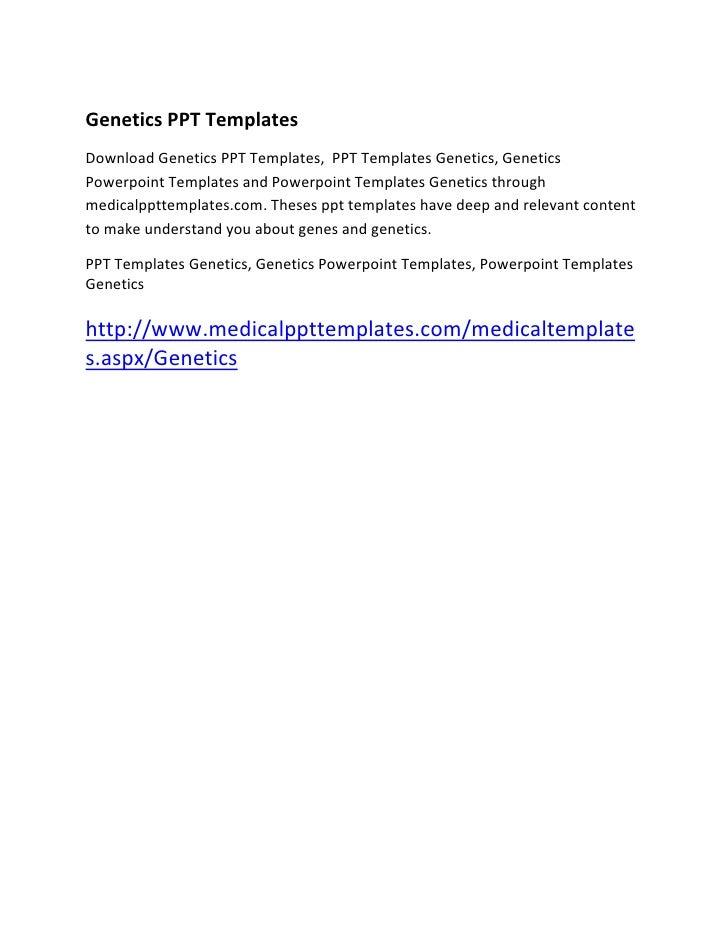 Genetics ppt templates presentation skills pptgenetics ppt templatesdownload genetics ppt templates ppt templates genetics geneticspowerpoint t toneelgroepblik Choice Image