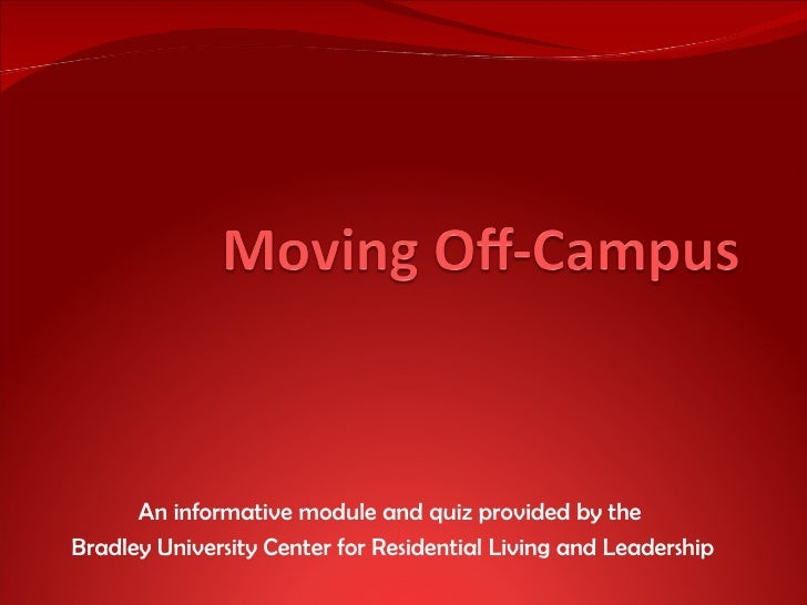 An informative module and quiz provided by the  Bradley University Center for Residential Living and Leadership