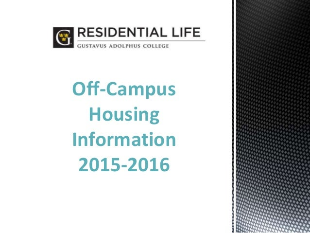 Off-Campus Housing Information 2015-2016